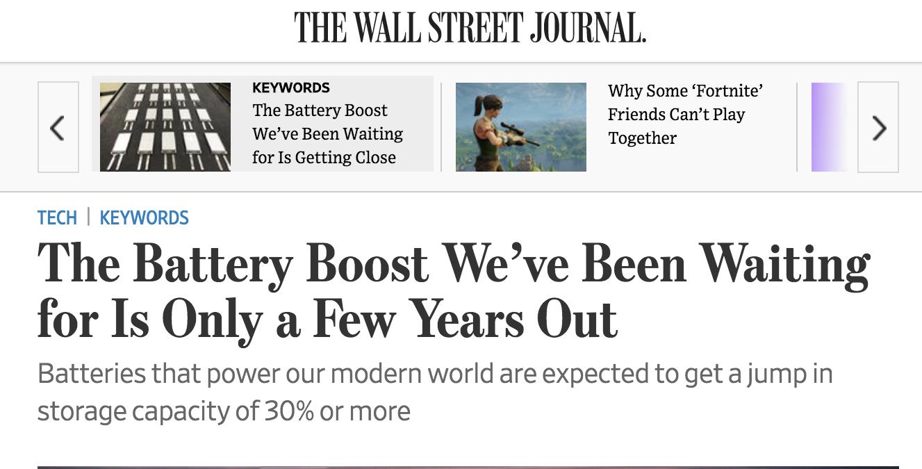 Wall Street Journal  headline , March 17, 2018.