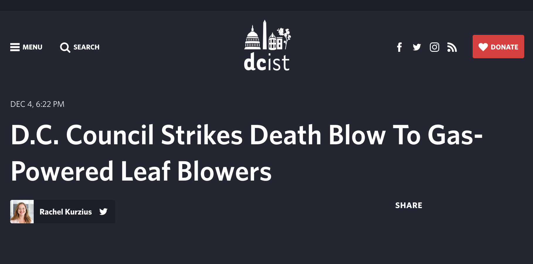 Headline from story by Rachel Kurzius  in DCist .