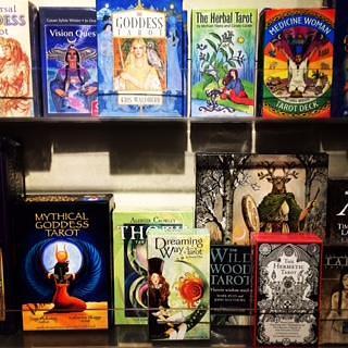 Sagrada has tarot decks    for your reading and gathering pleasure.