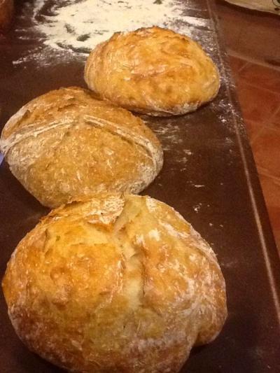 """Beth's fresh-baked """"gubbels"""""""