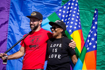 Equality advocates celebrate the U.S. Supreme Court's decision to legalize gay marriage in all 50 states.  Photo: Todd Johnson, SF Business Times