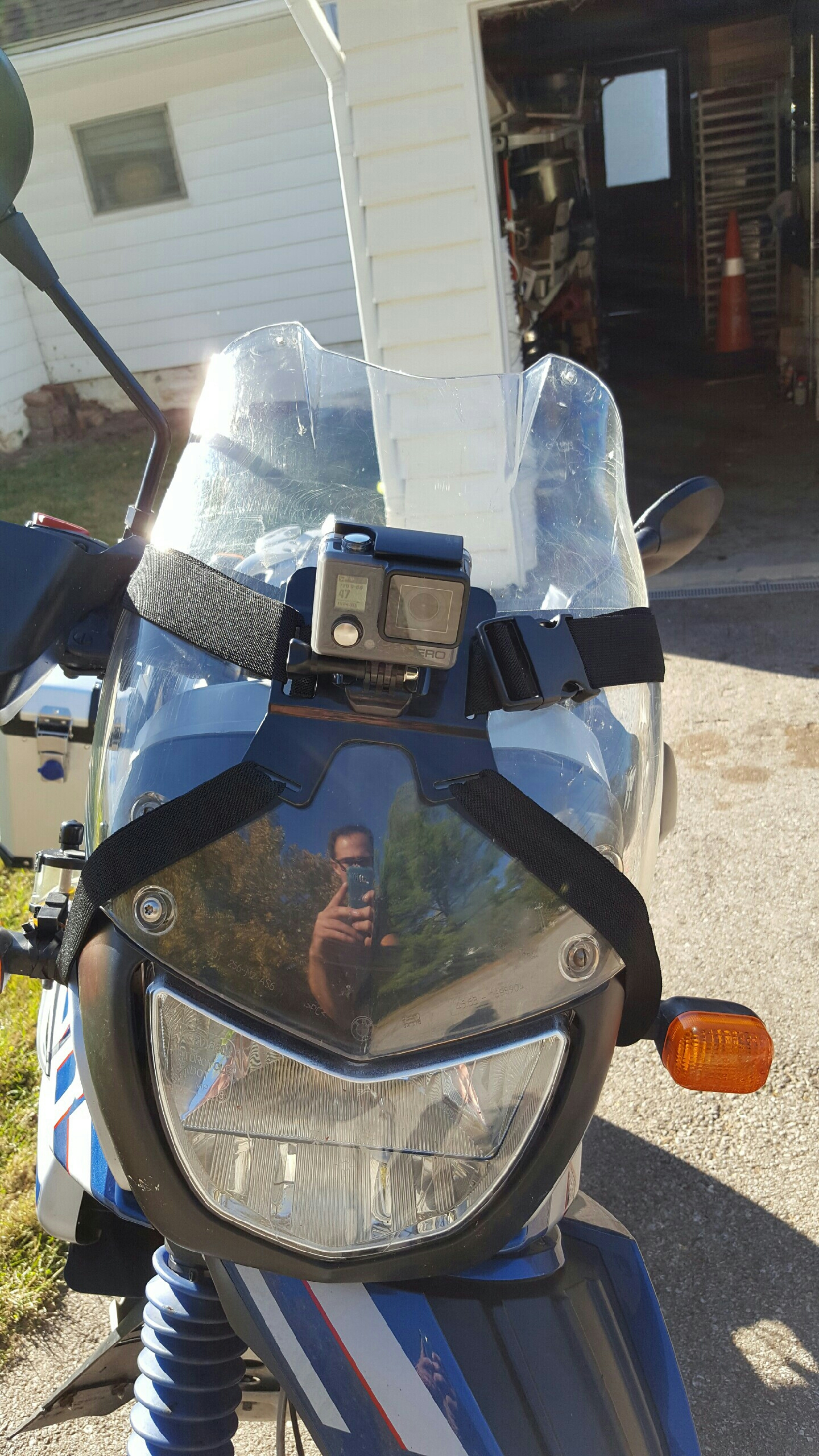 Go pro mount (aka chest strapped to the front) also kind of janky.