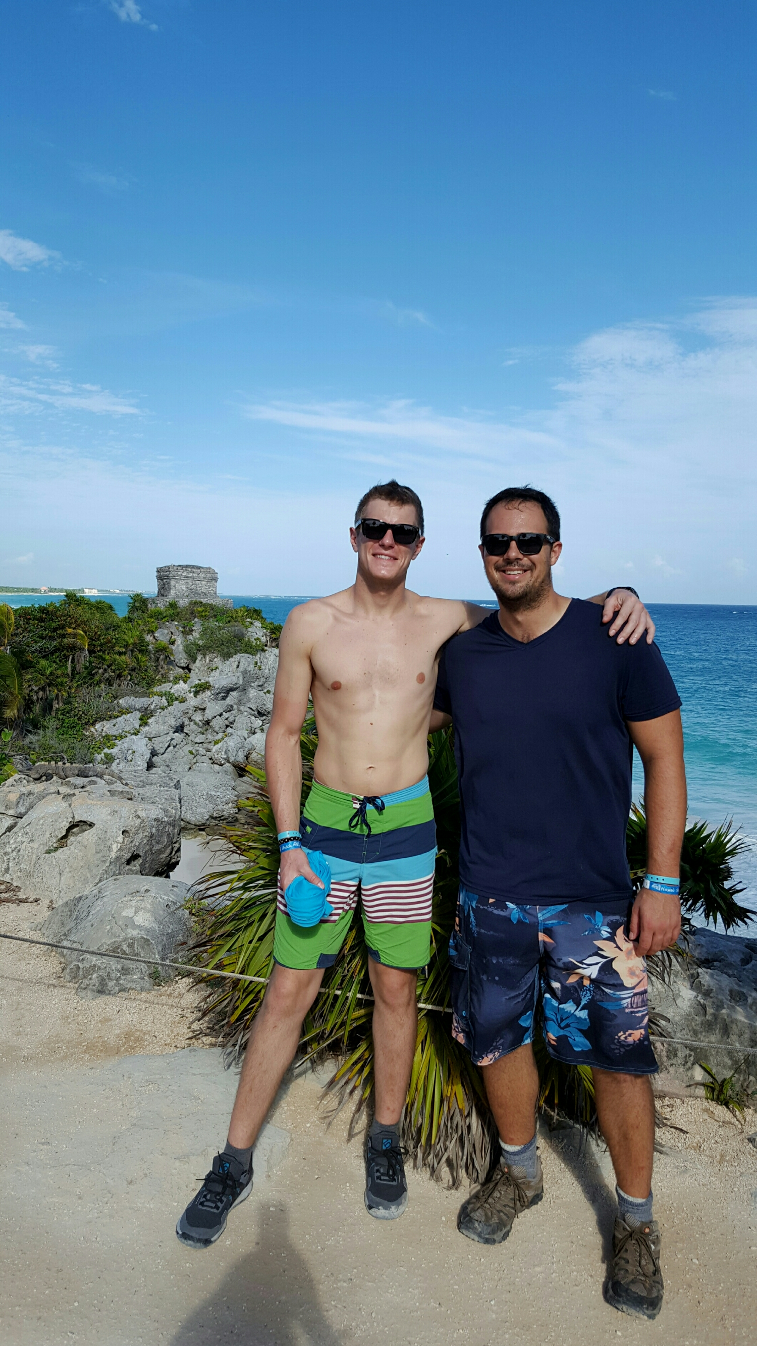 Dom and me at the Tulum ruins.
