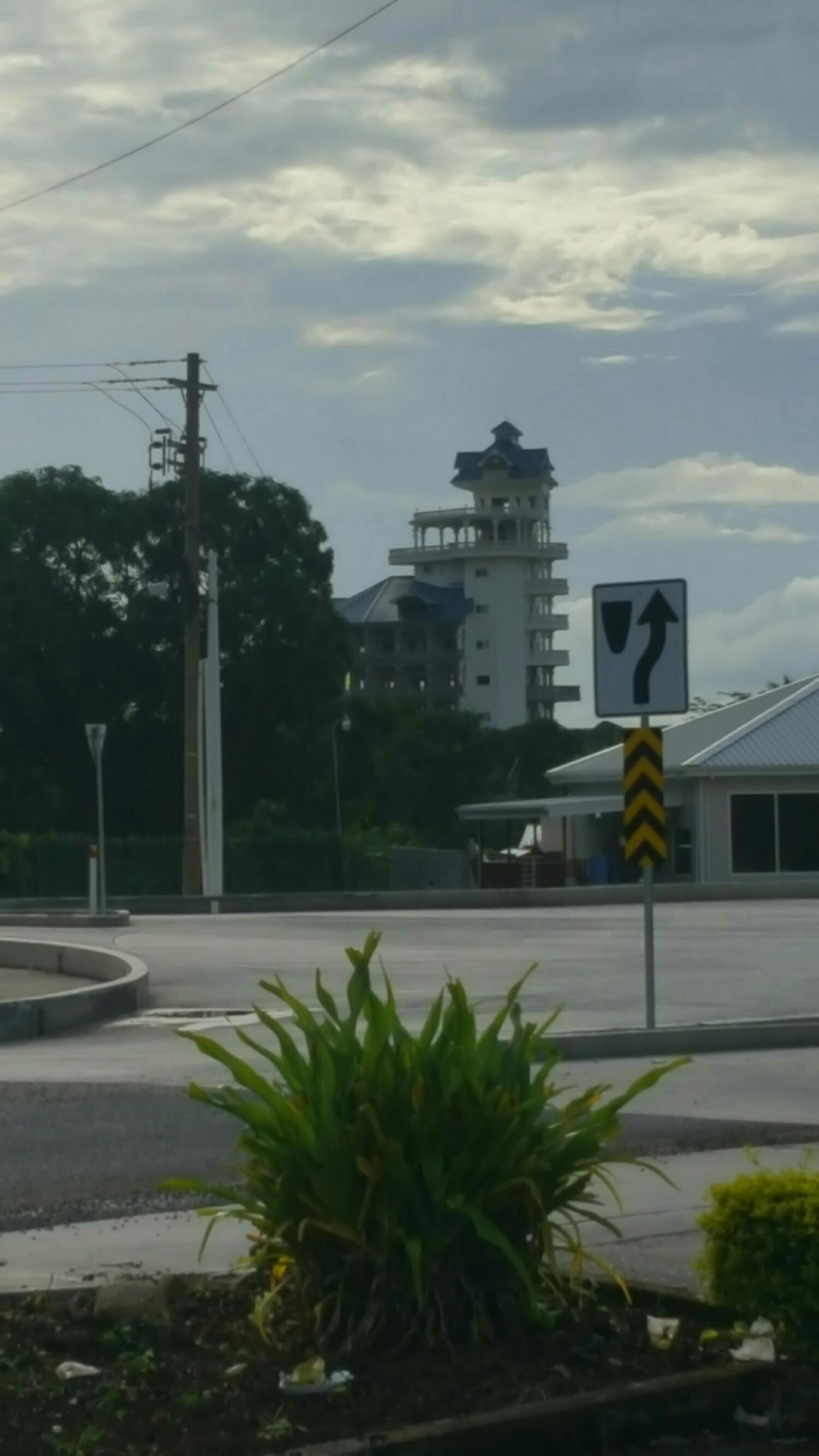 The tallest building in Belmopan, the capital of Belize, is a bit odd.