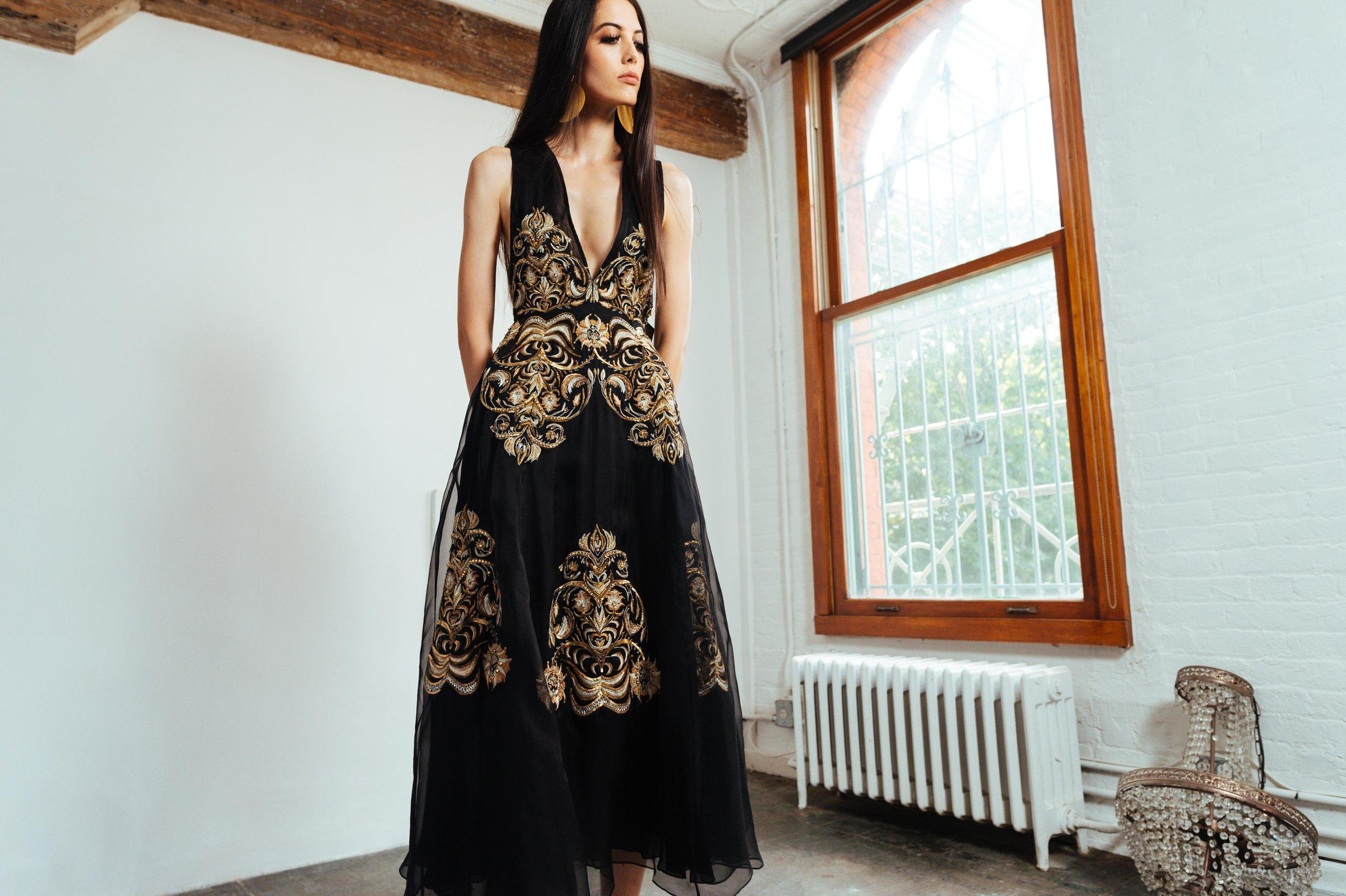 JEWEL FLOWER DRESS