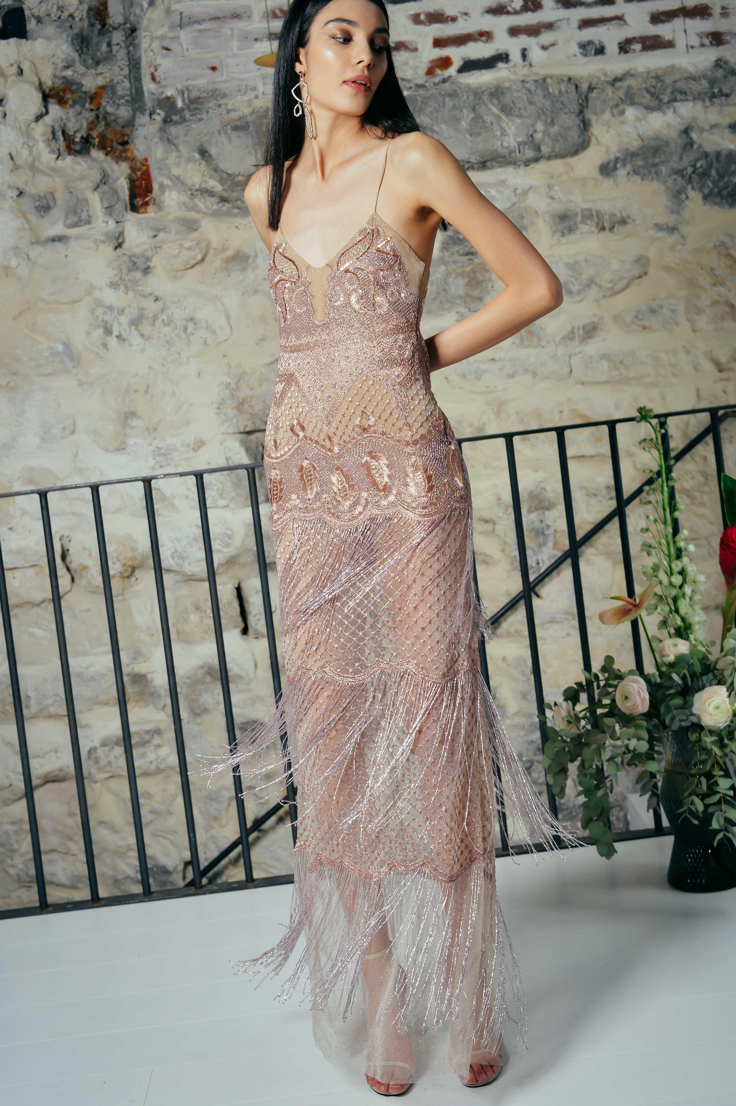 BLUSH DREAMWEAVER DRESS