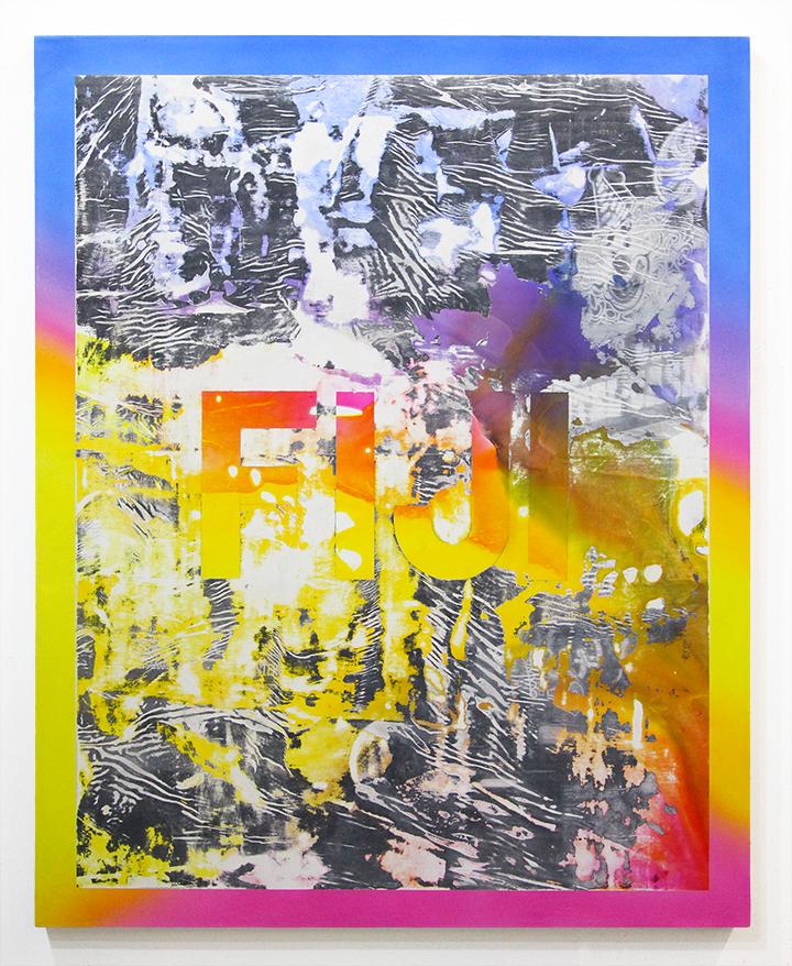 Fiji . 2013 acrylic and photo-transfer on canvas