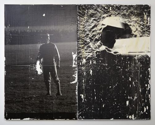 Iowa Apollo . 2013 photo-transfer on canvas (two panels)