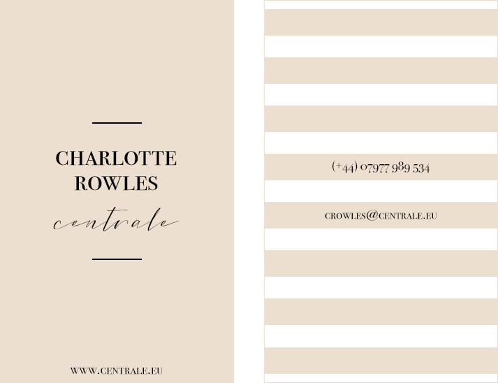 Charlotte Rowles - Business Card