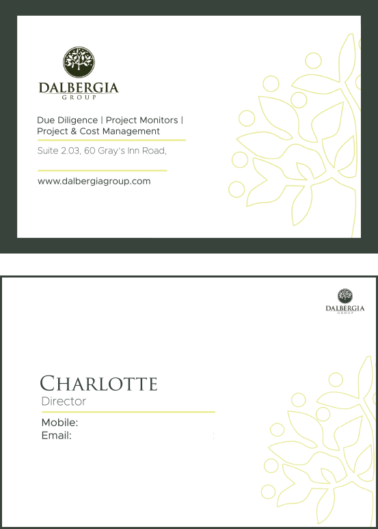 Business Cards - Dalbergia Group