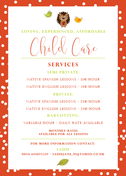 Child Care Services (Spain) - Flyer