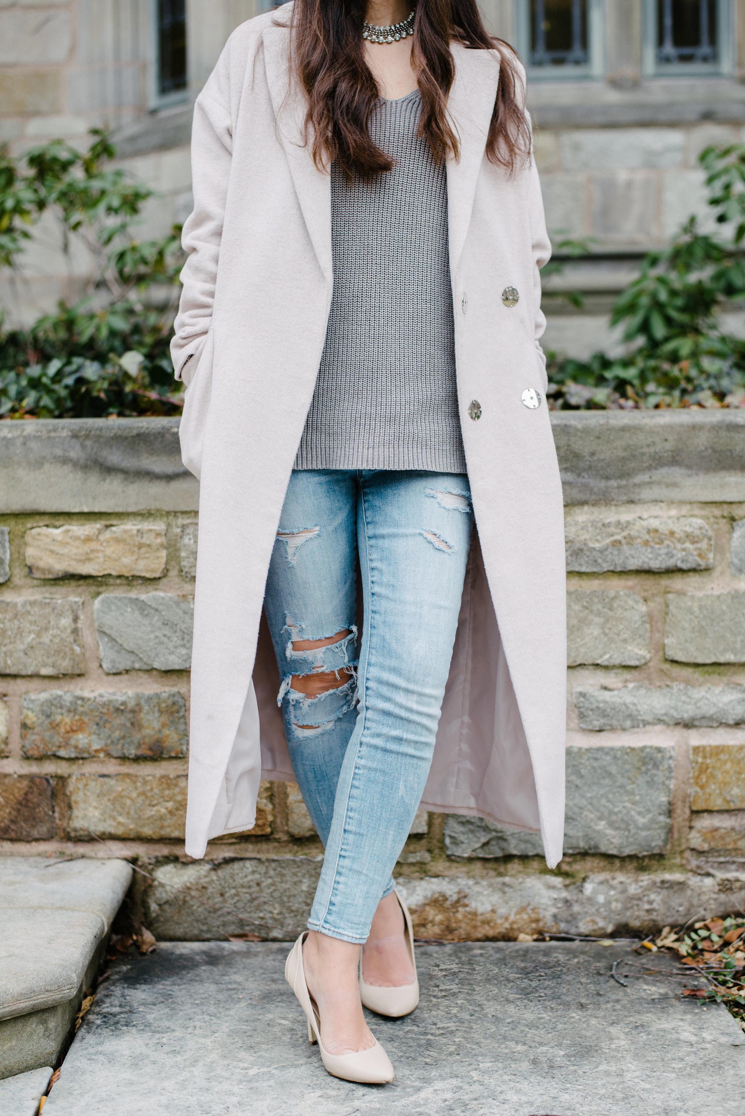 Top Shop longline slouch coat