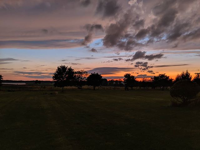 Got to say I really love Indiana sunsets there is something about the open sky and the red and blue paint across the sky. And yes I know my phone camera really can't capture what it really is.
