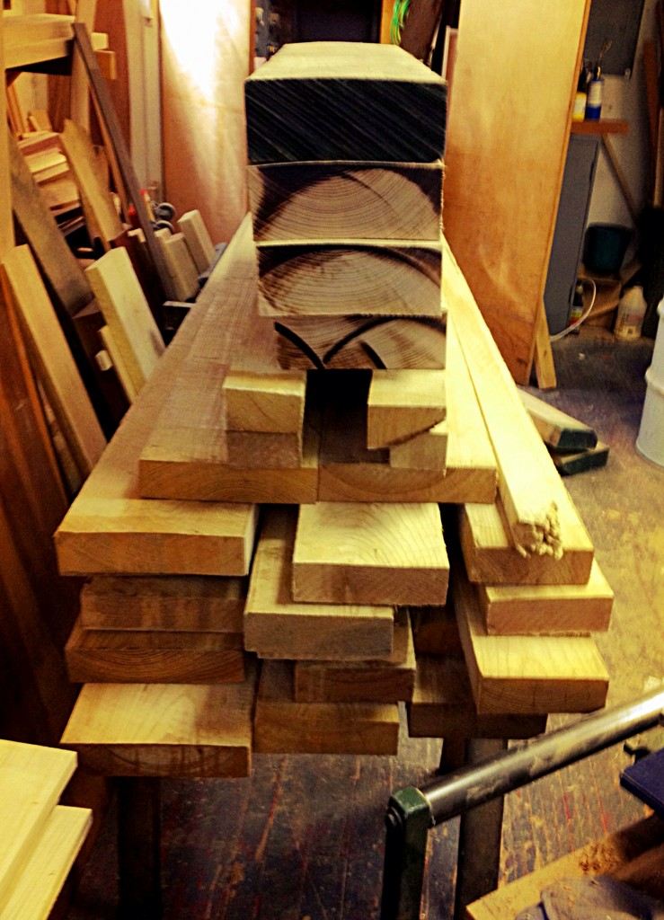 The raw material for 2 new benches