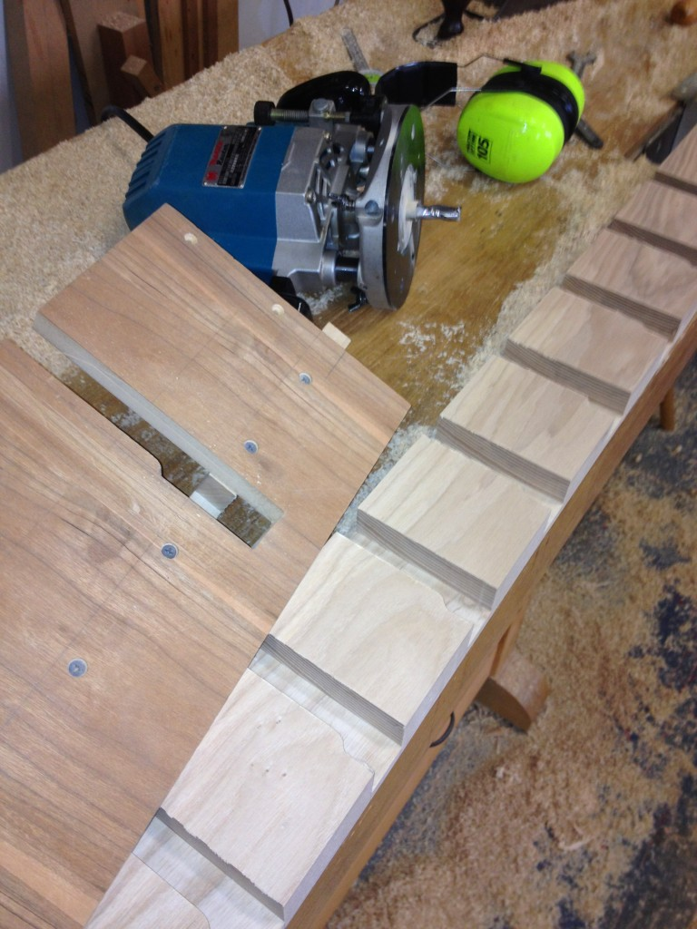Routing the bench dog slots