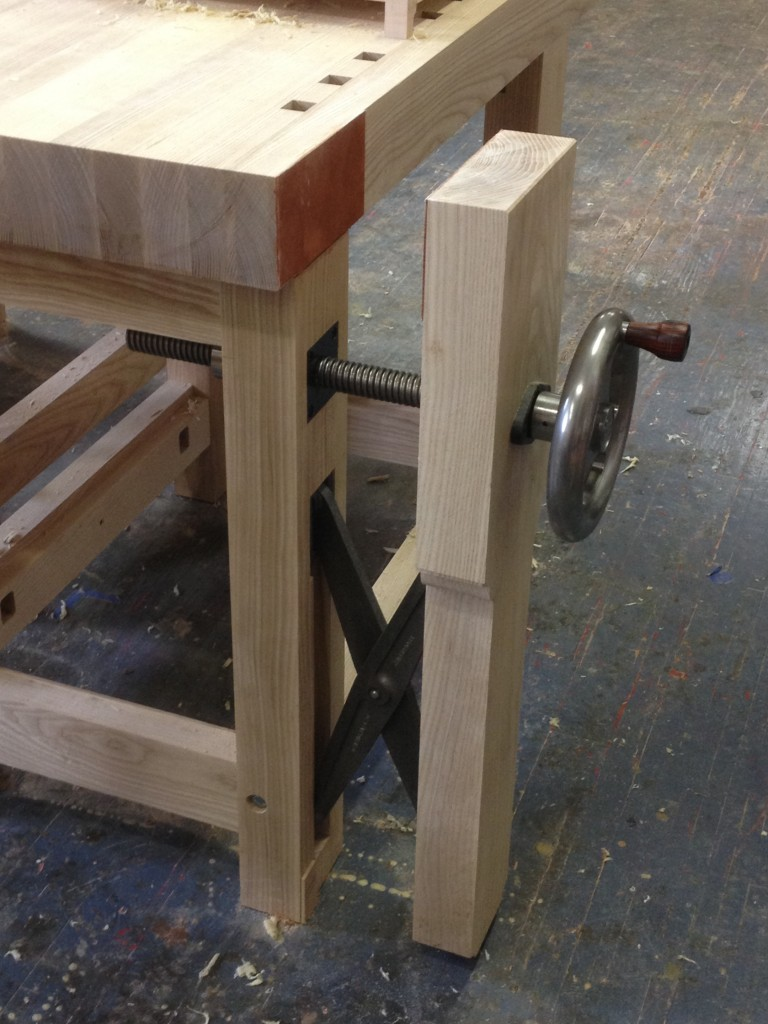 The Crisscross mounted on my bench with Benchcrafted's Glide Vise