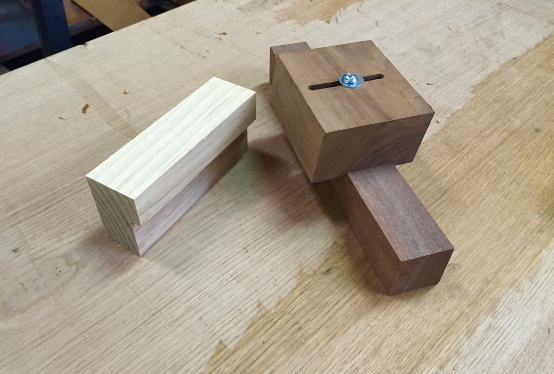 A simple and an adjustable (and angled) mortise paring jig