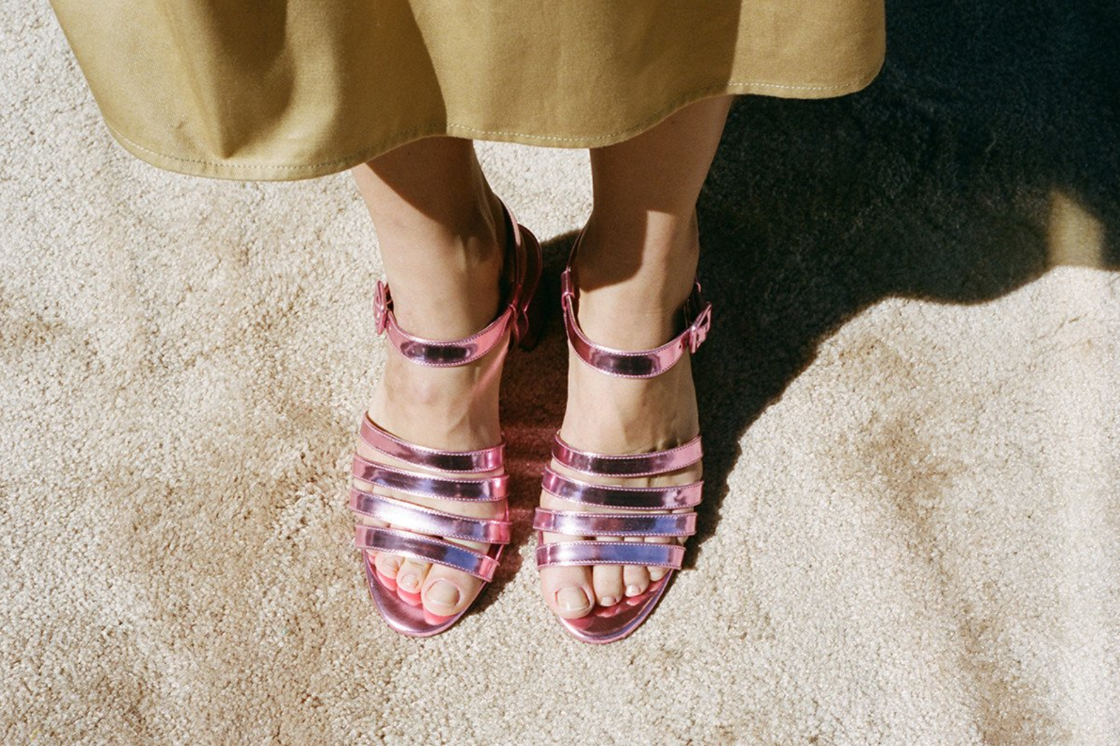 MARYAM NASSIR ZADEH Palma Low Pink Metallic