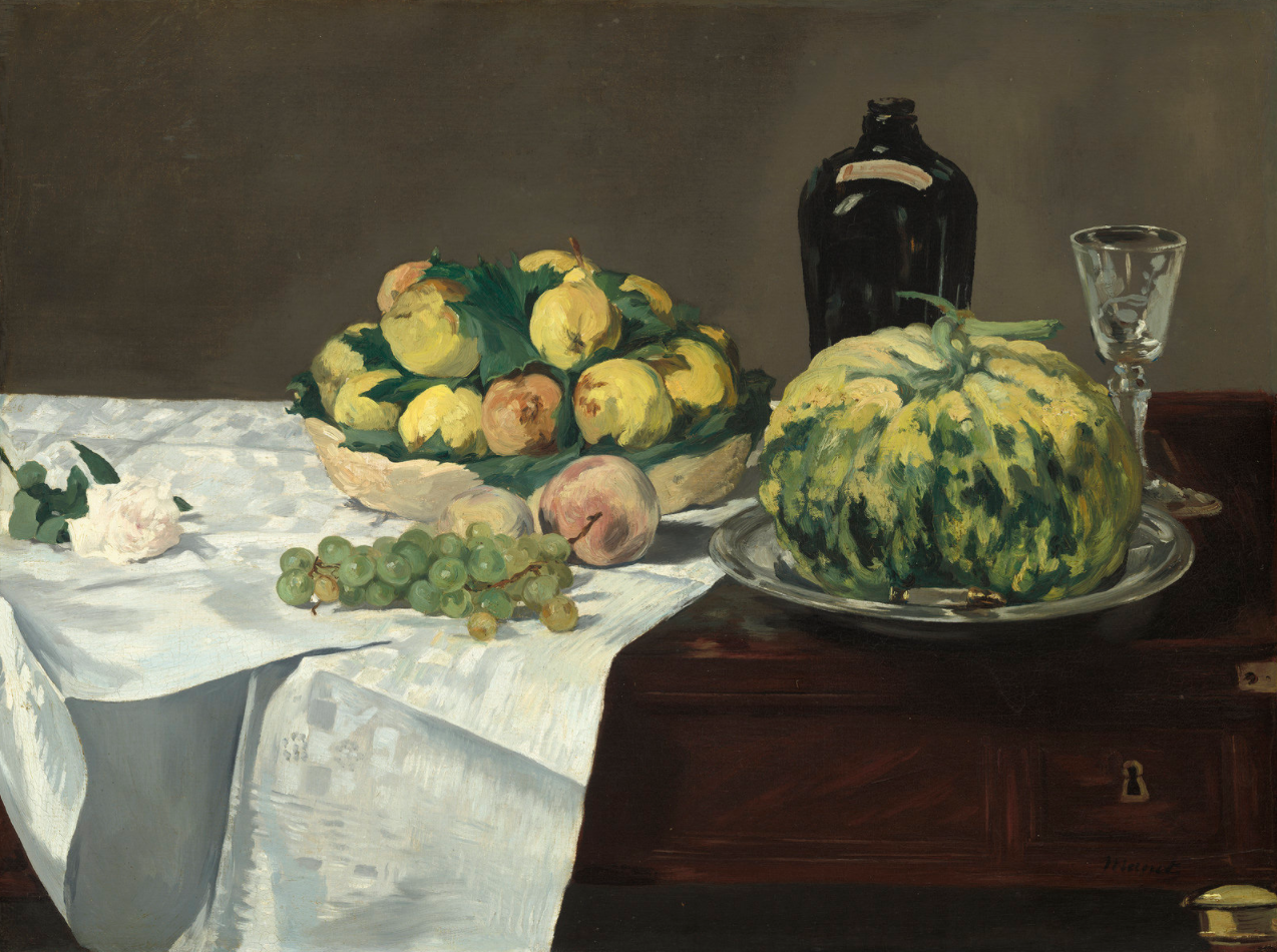 Edouard Manet, Still Life with Melon and Peaches, 1866