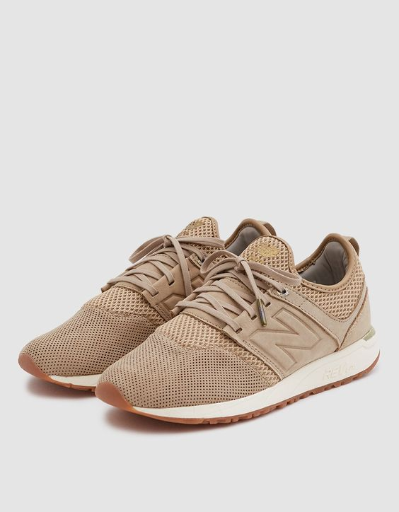 New Balance 247 NB Grey Sneaker in Hemp/Tan