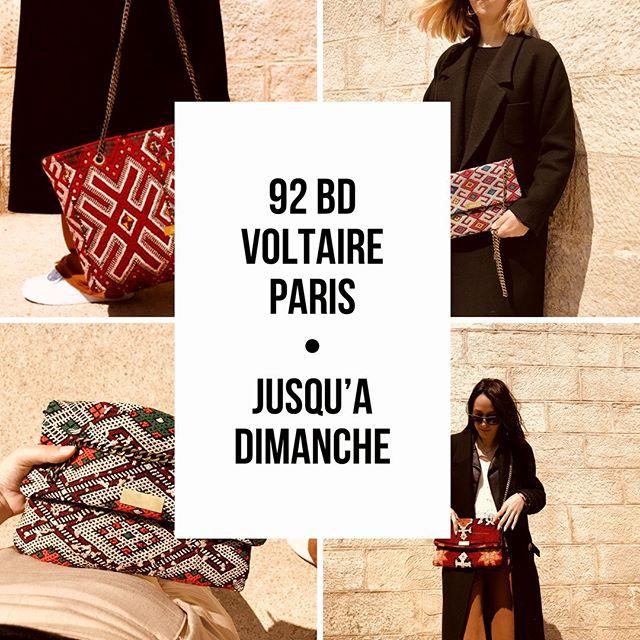 • Notre sélection de pochettes et sacs #kariaa est disponible chez @lusaluso au 92 Bd Voltaire - Paris 11 jusqu'à dimanche 19h •  #parisienne #paris #paris11 #whomademyclothes #kilimbag #kilimclutch #handmade #artisanat #mode #tendance2019 #bohostreetstyle #modeethique #ethnique #maroc