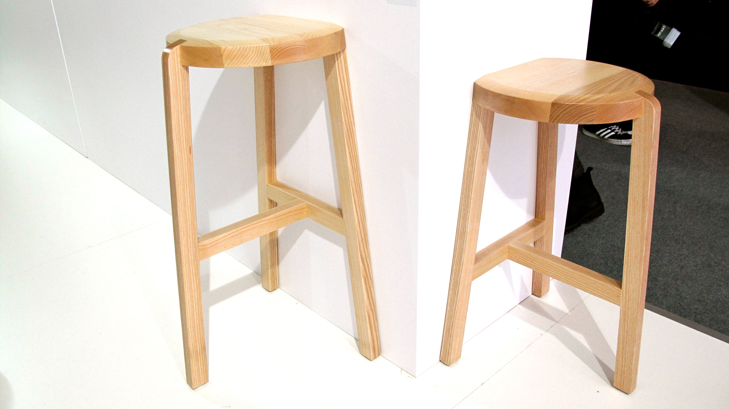 Oyster - Wood stool by design duo Geckeler Michels  Util |    www.thisisutil.com