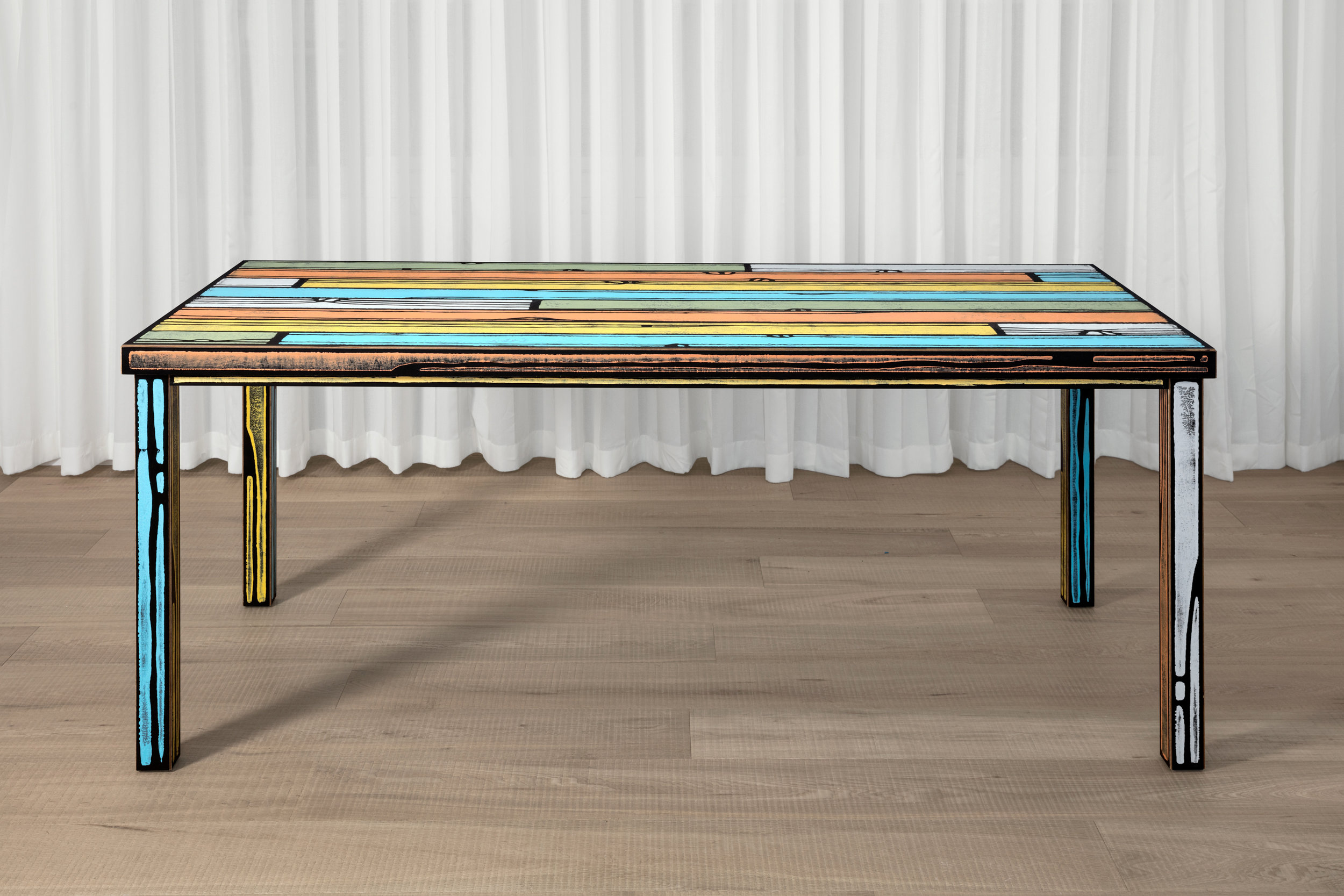 Wrongwoods  Table designed by Richard Woods and Sebastian Wrong