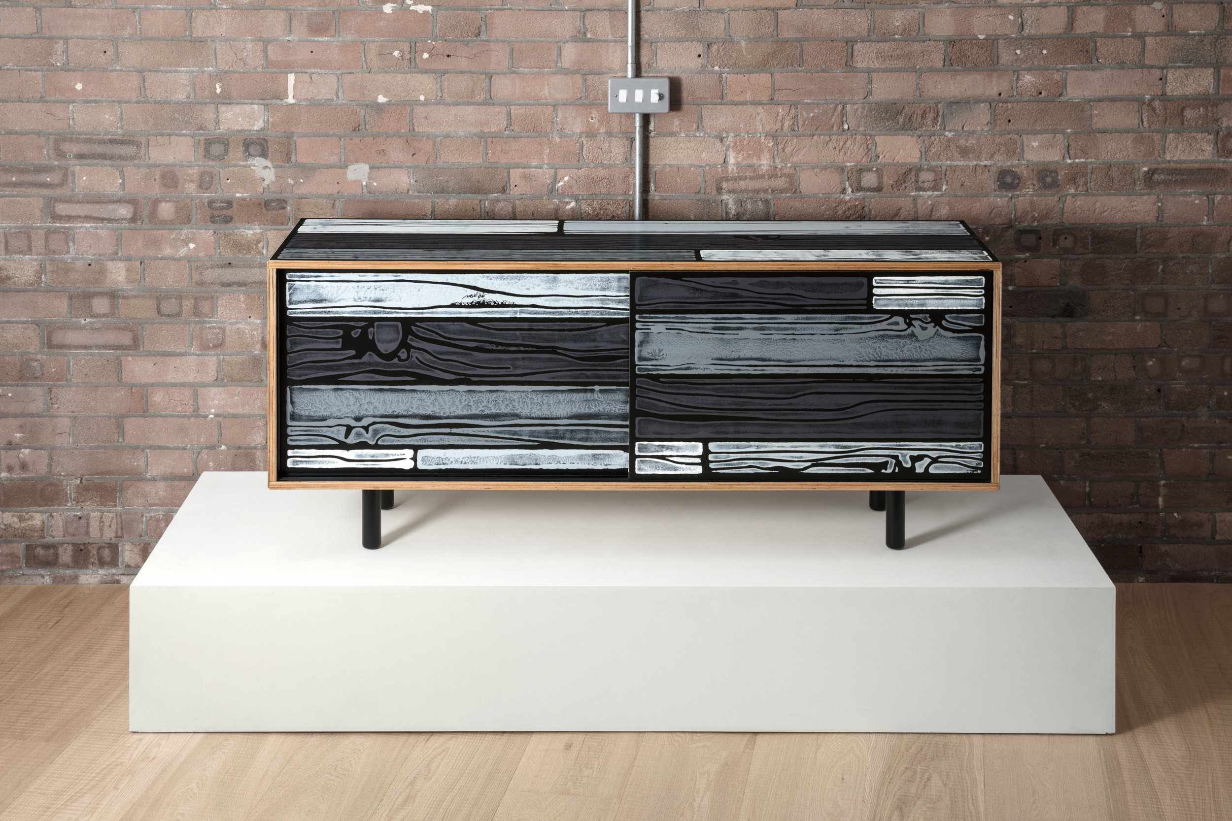 Wrongwoods  Low Cabinet designed by Richard Woods and Sebastian Wrong