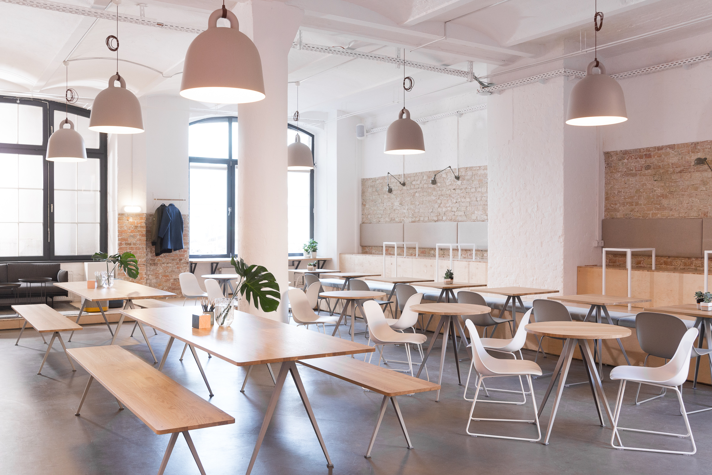 Contentful's New Cafe - Also used for informal meetings and group presentations.