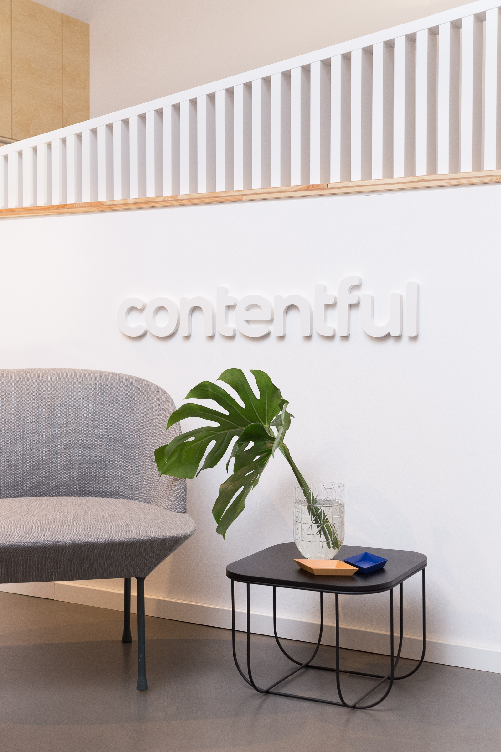 New reception that reflects Contentful's brand.