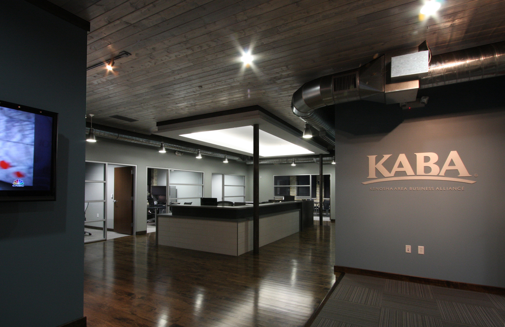 KABA Mixed Use Building    L.Huck Interiors collaborated with the Kenosha Area Business Alliance and a local architect to renovate this mixed use space.