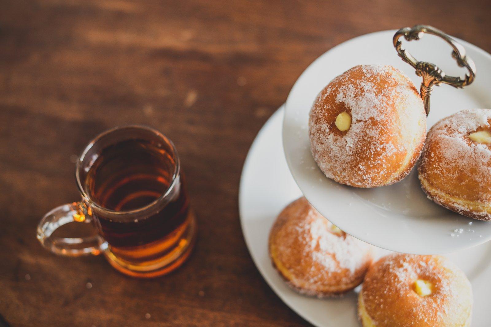 doughnuts and tea