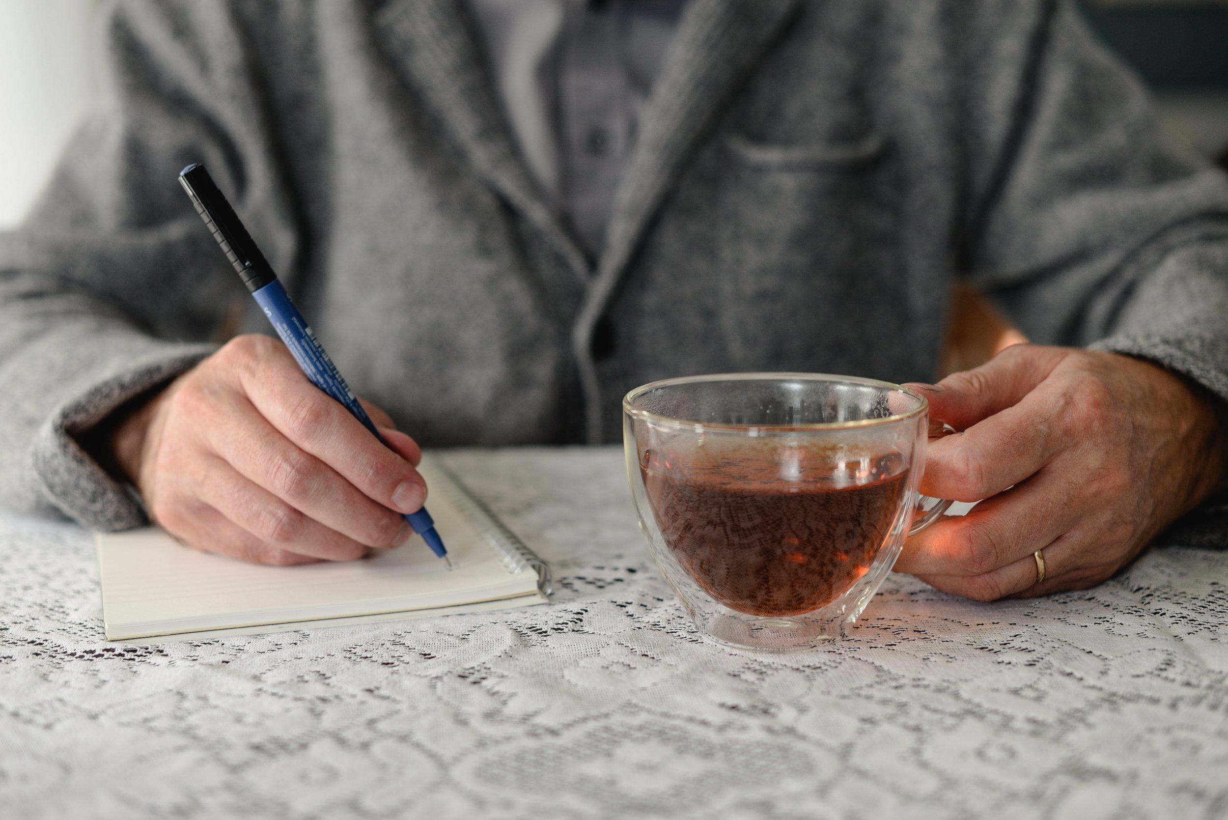 tea and writing