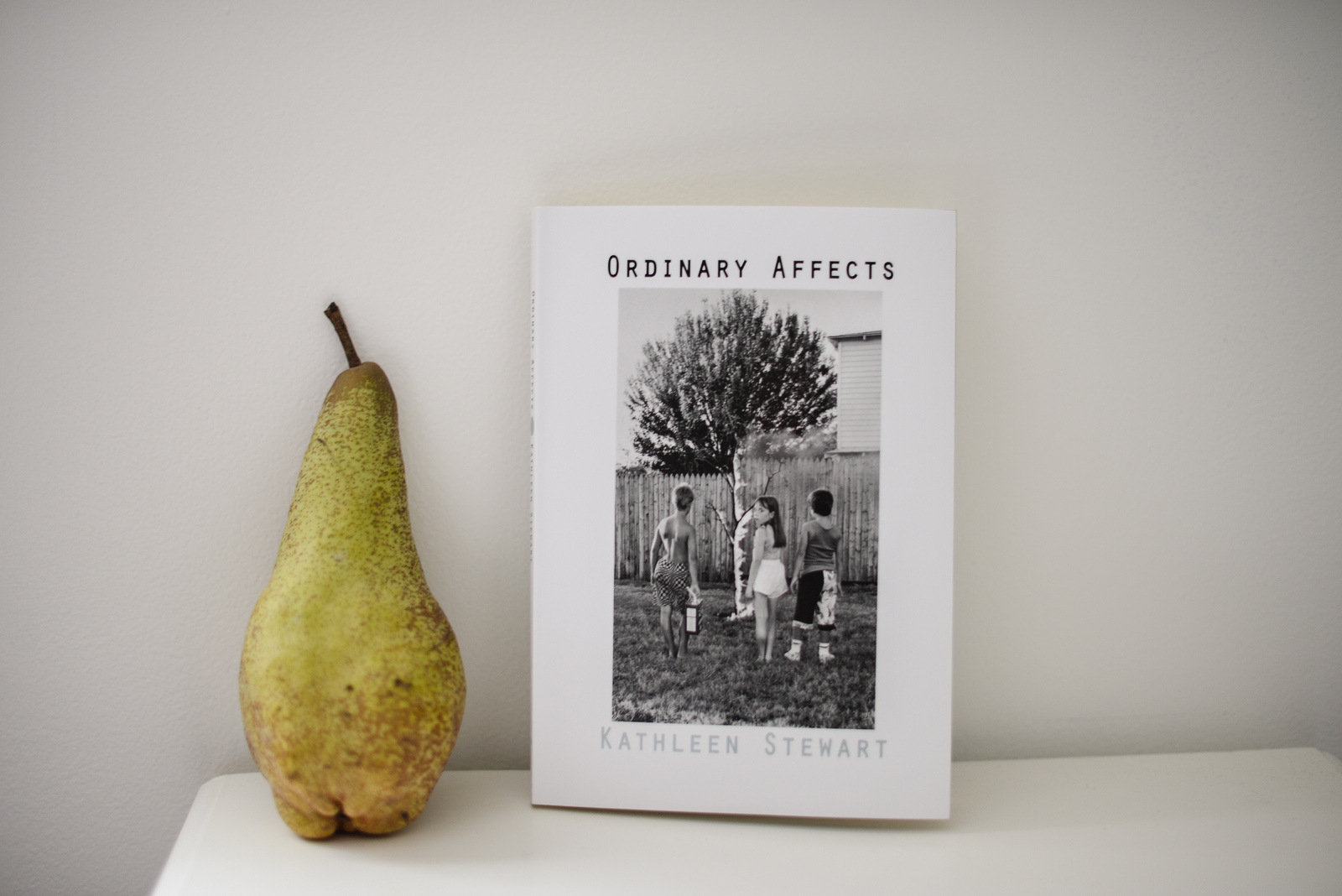 book and pear