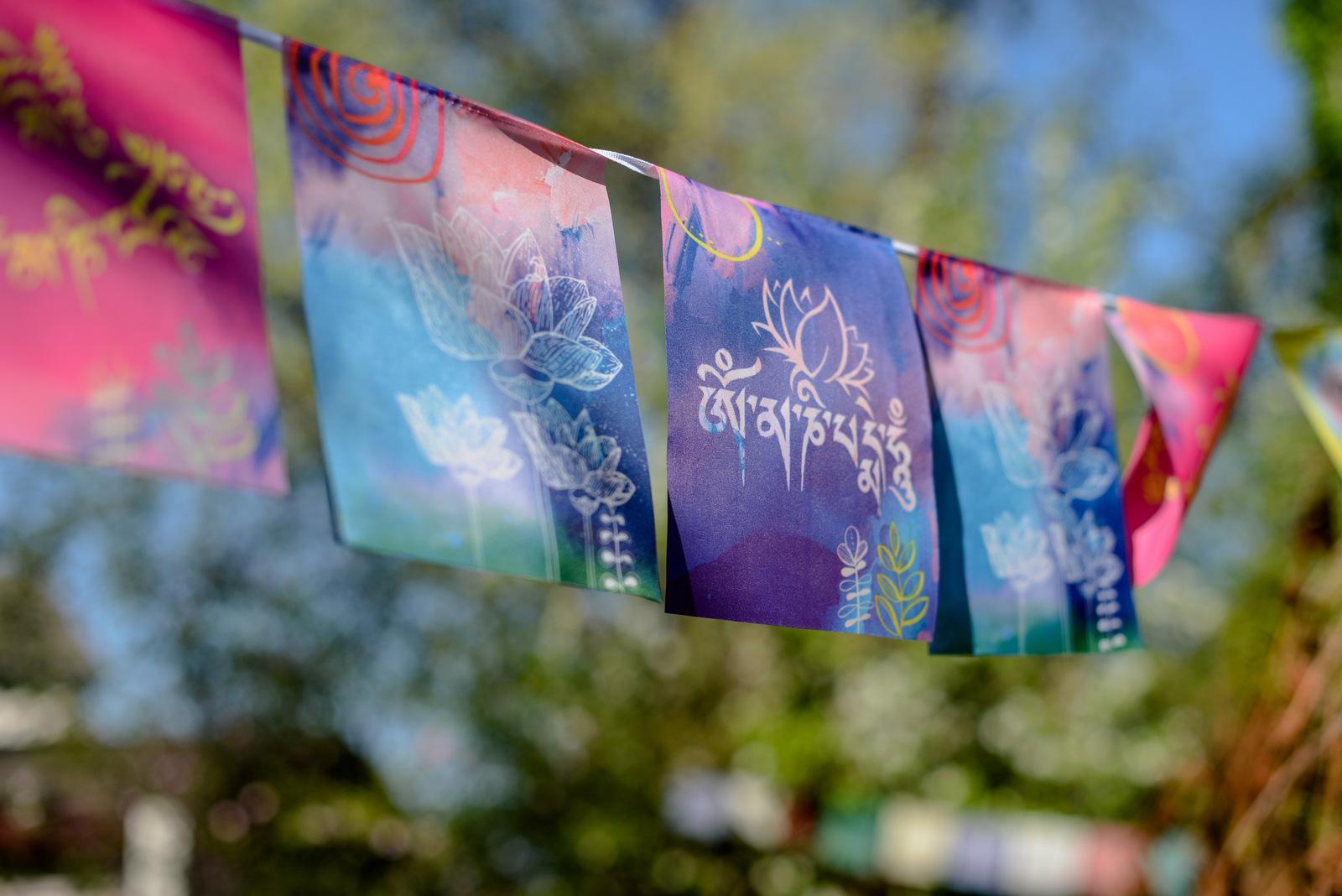 lotus prayer flags