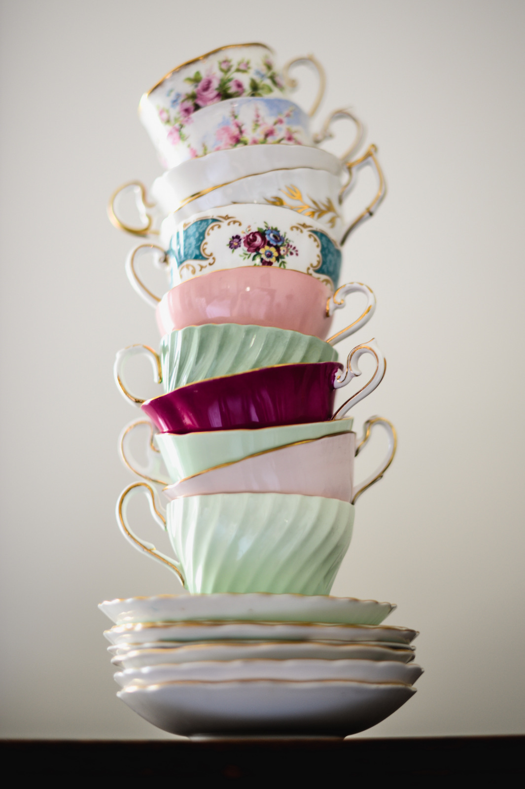 tall teacup stack