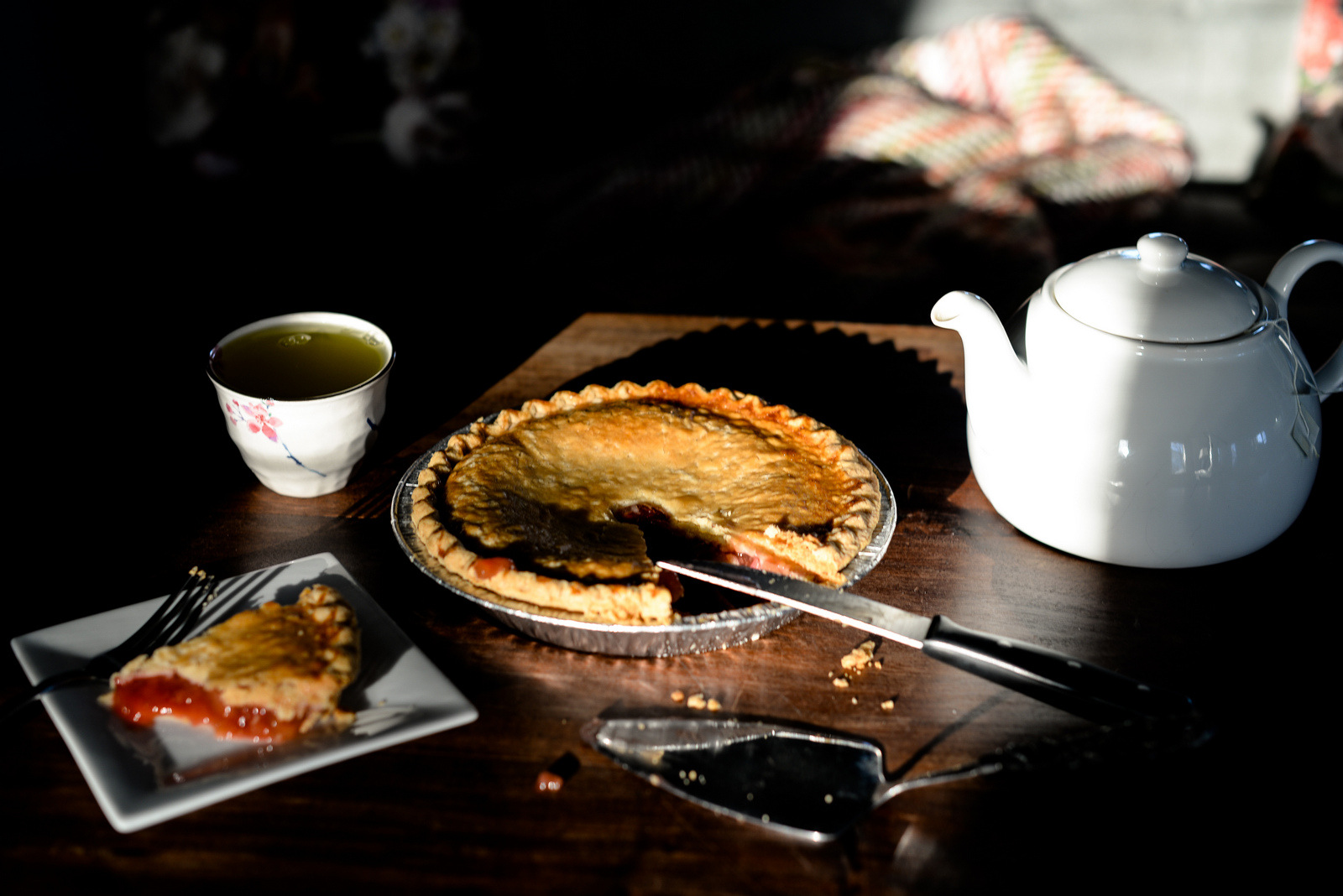 pie and light