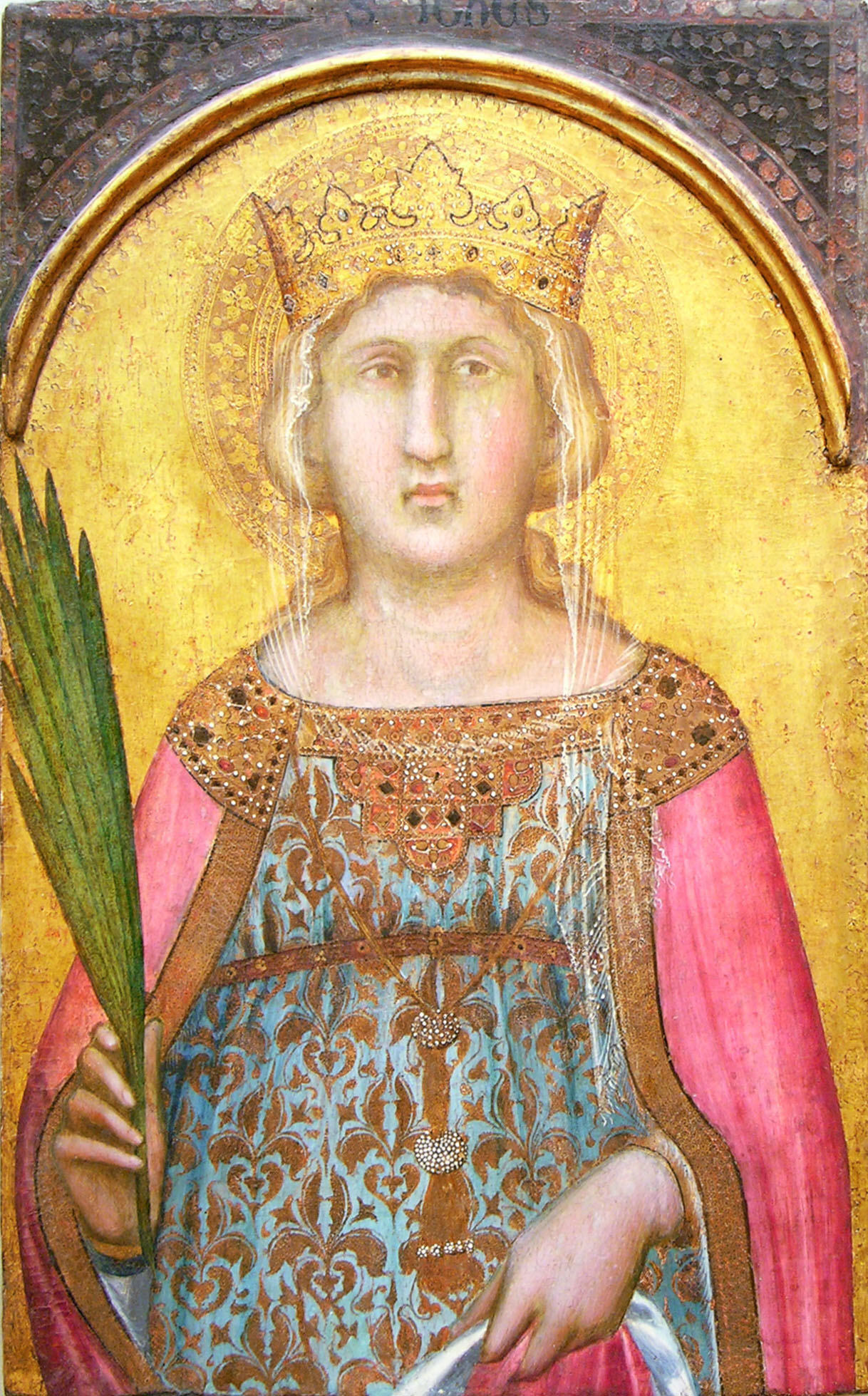 Saint Catherine of Alexandria by Pietro Lorenzetti 1342