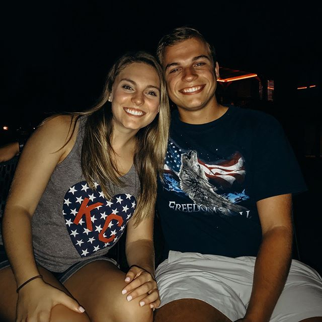 Sat next to him for the fireworks... even while he's wearing his wolf shirt