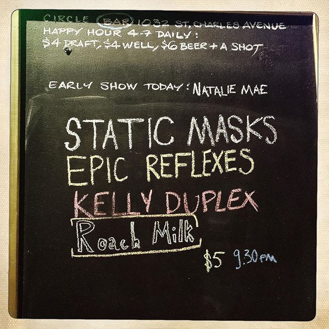 Last night was fun and sweaty. ⁣⁣ Thank you 🤘🤘🤘🤘 ⁣ —————— ⁣⁣ Much luv to @epicreflexesbandaccount @kellyduplexmusic @roachmilkband ⁣⁣ 🖤🖤🖤🖤