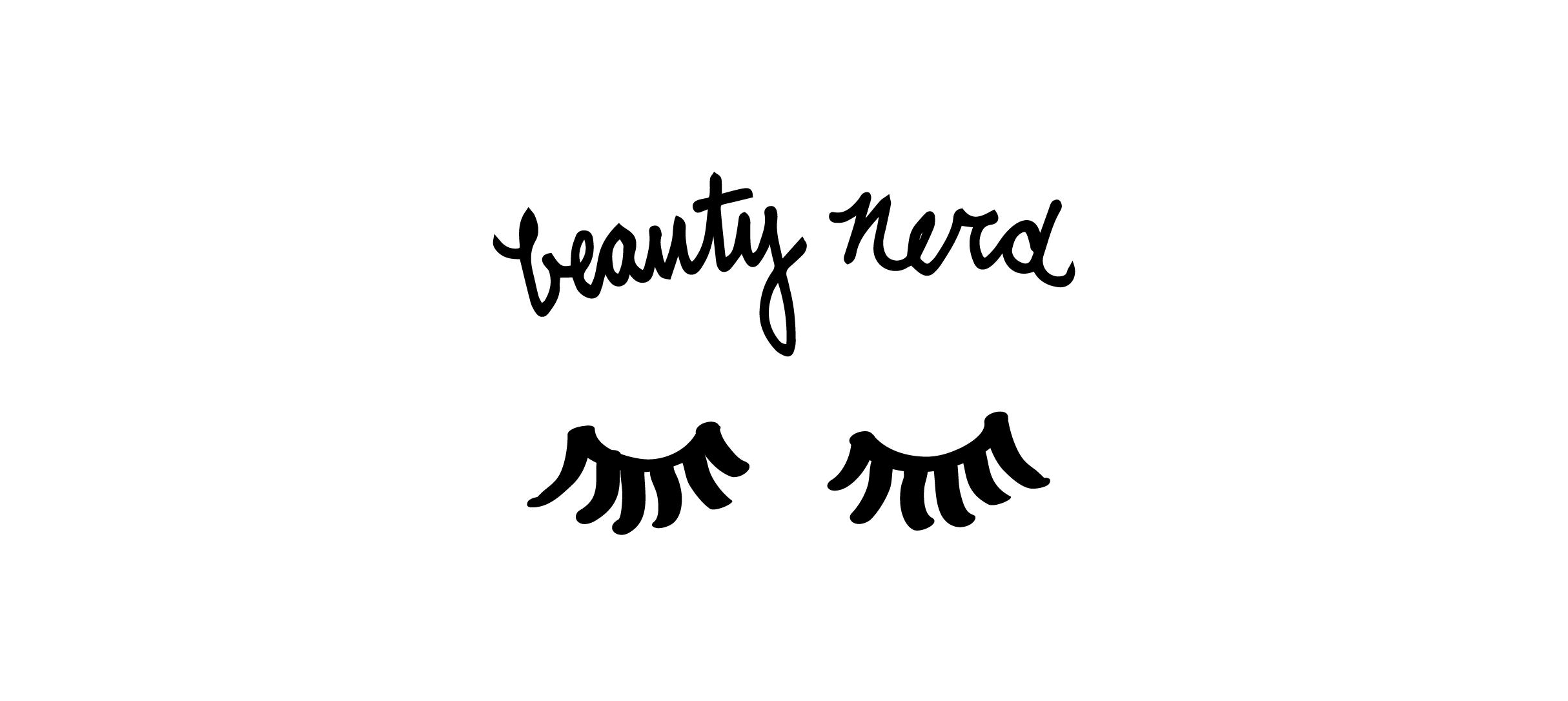 Custom type and eyelash Illustration.