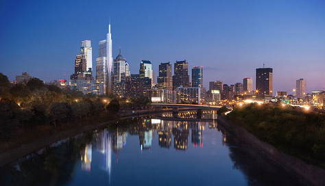 """Can't wait for the new Comcast Technology Center in Philadelphia to open later this year. It's """"smart"""", energy efficient, and will host the tallest hotel in the US! #philadelphia #philly #architecture #fourseasons #comcast"""