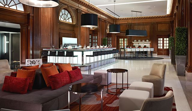 The Interior Design Group at Blackney Hayes Architects executed flawlessly on their work for LeMeridien Hotel in Philadelphia. #interiorinspiration #hoteldesign #interiorarchitect