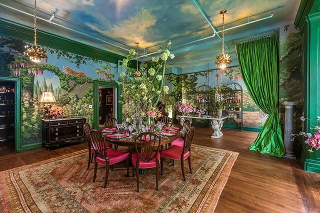 The magical world of Ken Fulk brought to life through his collaboration with de Gournay wallpaper