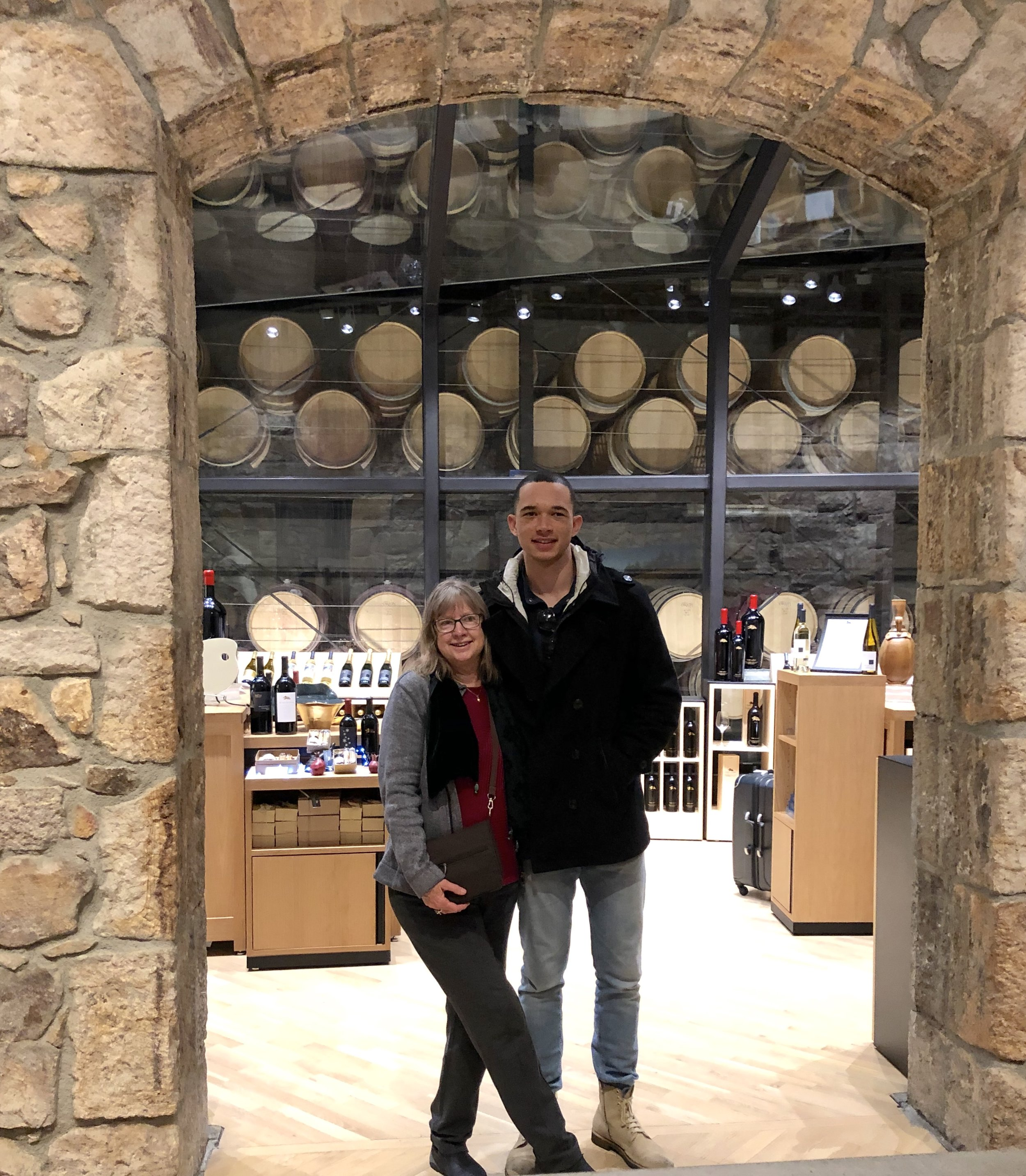 Karen and son, Andre, Napa CA 2018
