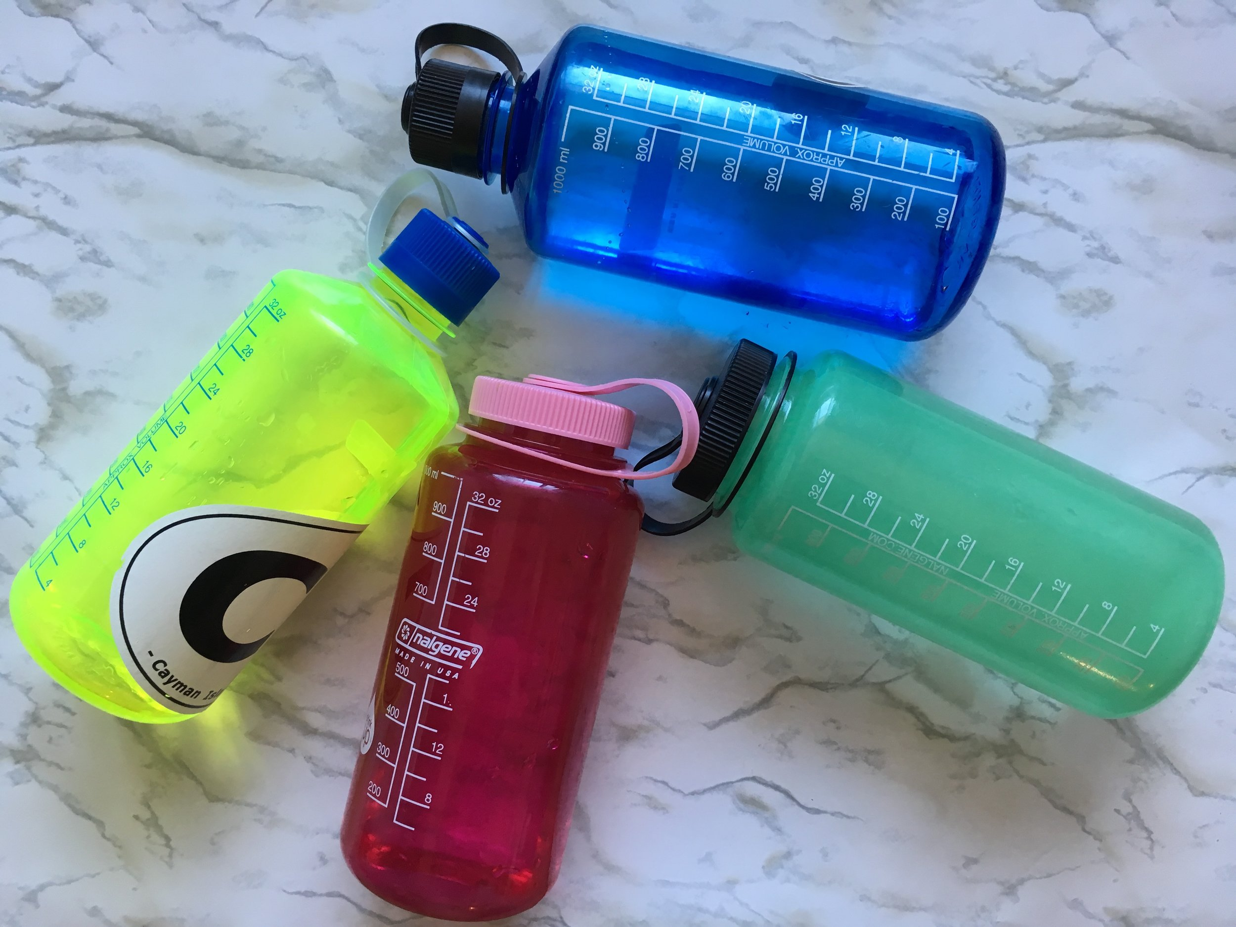 Nalgene Marked H2O bottles