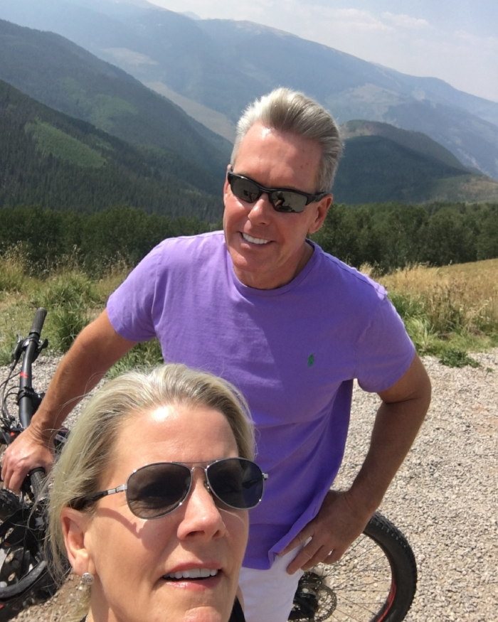 """Darci & Brad at the top of """"Hank's Hideaway"""" Trail"""