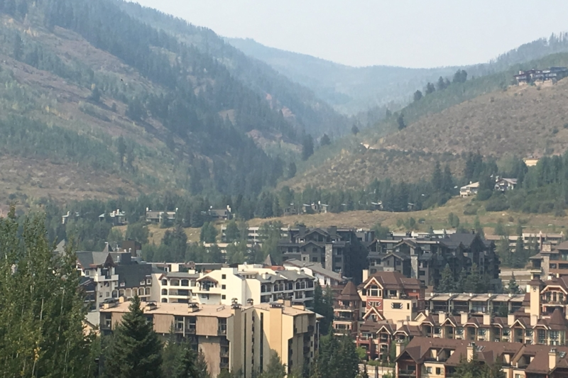 A beautiful glimpse of Vail at the end of summer