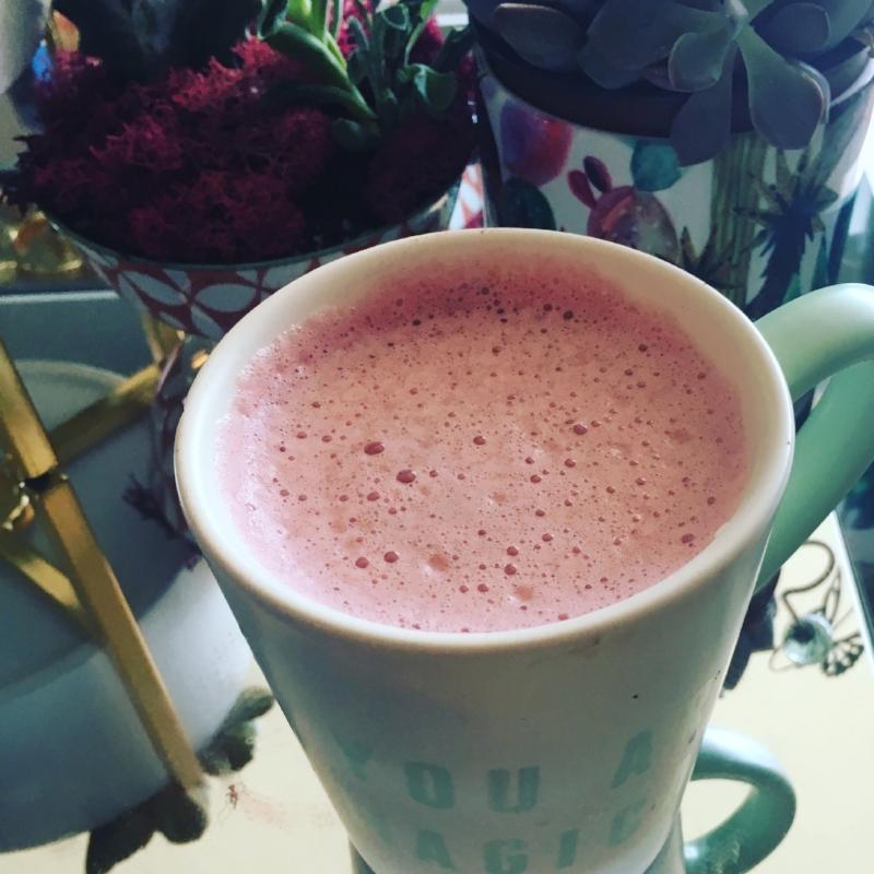 PinkLatte_Beet Milk Coffee