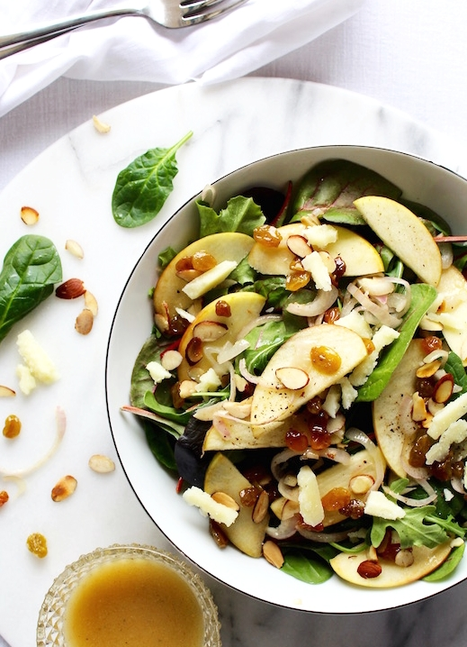 This salad is crisp, fresh and so easy to make. It is loaded with vitamins and minerals and fiber to fill you up!